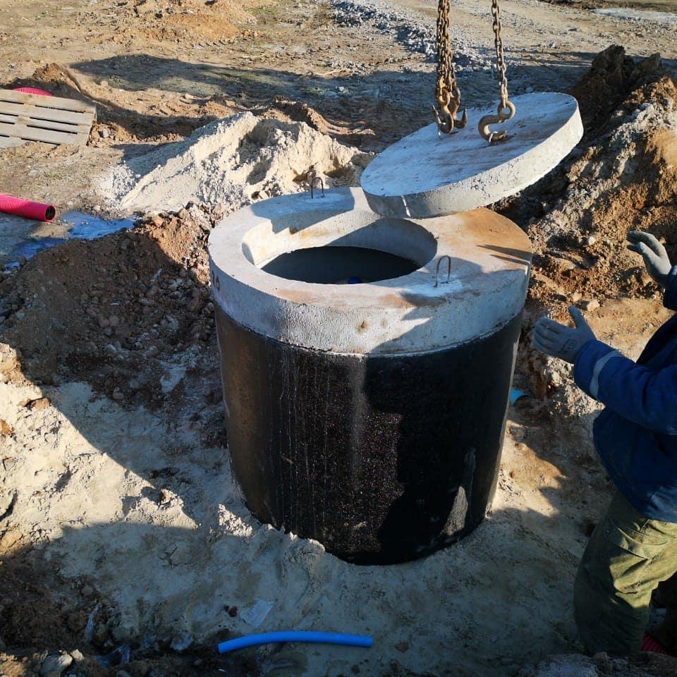Монтаж кессонов для скважин